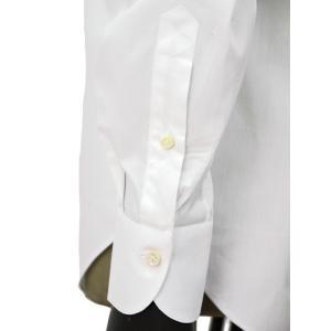Giannetto【ジャンネット】ドレスシャツ SLIM FIT AB1130 L66 001 BLUE LABEL コットン ツイル ホワイト cinqueunaltro 06