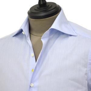 Giannetto【ジャンネット】ドレスシャツ SLIM FIT AB1130 L66 003 BLUE LABEL コットン ツイル ライトブルー cinqueunaltro