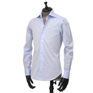Giannetto【ジャンネット】ドレスシャツ SLIM FIT AB1130 L66 003 BLUE LABEL コットン ツイル ライトブルー cinqueunaltro 02