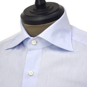 Giannetto【ジャンネット】ドレスシャツ SLIM FIT AB1130 L66 003 BLUE LABEL コットン ツイル ライトブルー cinqueunaltro 03