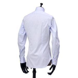 Giannetto【ジャンネット】ドレスシャツ SLIM FIT AB1130 L66 003 BLUE LABEL コットン ツイル ライトブルー cinqueunaltro 04