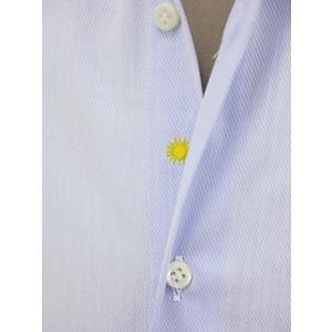 Giannetto【ジャンネット】ドレスシャツ SLIM FIT AB1130 L66 003 BLUE LABEL コットン ツイル ライトブルー cinqueunaltro 05