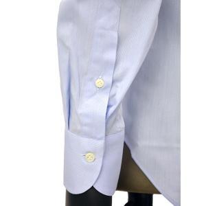 Giannetto【ジャンネット】ドレスシャツ SLIM FIT AB1130 L66 003 BLUE LABEL コットン ツイル ライトブルー cinqueunaltro 06