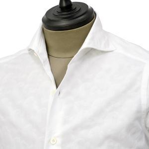 Giannetto【ジャンネット】カジュアルシャツ VINCI FIT AG15230V84 004 ジャガード ペイズリー ホワイト|cinqueunaltro