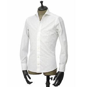 Giannetto【ジャンネット】カジュアルシャツ VINCI FIT AG15230V84 004 ジャガード ペイズリー ホワイト|cinqueunaltro|02