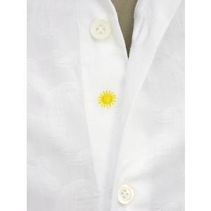 Giannetto【ジャンネット】カジュアルシャツ VINCI FIT AG15230V84 004 ジャガード ペイズリー ホワイト|cinqueunaltro|04