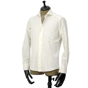 Giannetto【ジャンネット】カジュアルシャツ VINCI FIT AG31130V84 001 ジャガード フラワー ホワイト|cinqueunaltro|02