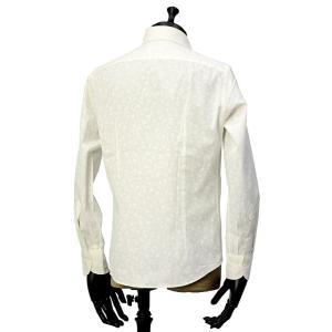 Giannetto【ジャンネット】カジュアルシャツ VINCI FIT AG31130V84 001 ジャガード フラワー ホワイト|cinqueunaltro|03