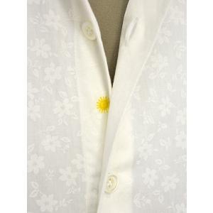 Giannetto【ジャンネット】カジュアルシャツ VINCI FIT AG31130V84 001 ジャガード フラワー ホワイト|cinqueunaltro|04