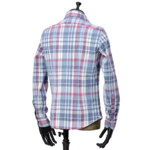 Giannetto【ジャンネット】カジュアルシャツ VINCI FIT AG34630V84 C01 チェック ブルー レッド|cinqueunaltro|03