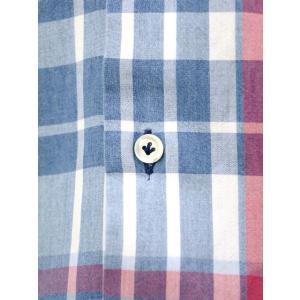 Giannetto【ジャンネット】カジュアルシャツ VINCI FIT AG34630V84 C01 チェック ブルー レッド|cinqueunaltro|04