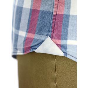 Giannetto【ジャンネット】カジュアルシャツ VINCI FIT AG34630V84 C01 チェック ブルー レッド|cinqueunaltro|06