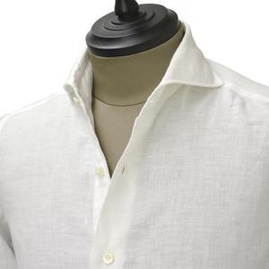 Giannetto【ジャンネット】カジュアルシャツ VINCI FIT AG83330V84 001 リネン ホワイト|cinqueunaltro
