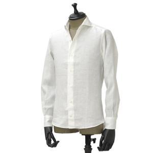 Giannetto【ジャンネット】カジュアルシャツ VINCI FIT AG83330V84 001 リネン ホワイト|cinqueunaltro|02