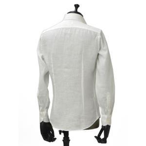 Giannetto【ジャンネット】カジュアルシャツ VINCI FIT AG83330V84 001 リネン ホワイト|cinqueunaltro|03