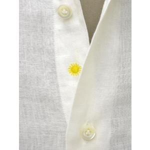 Giannetto【ジャンネット】カジュアルシャツ VINCI FIT AG83330V84 001 リネン ホワイト|cinqueunaltro|04