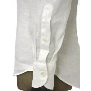 Giannetto【ジャンネット】カジュアルシャツ VINCI FIT AG83330V84 001 リネン ホワイト|cinqueunaltro|05