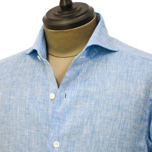 Giannetto【ジャンネット】カジュアルシャツ VINCI FIT AG85130V84 006 リネン ブルー|cinqueunaltro