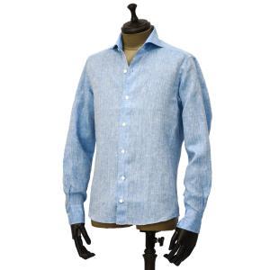 Giannetto【ジャンネット】カジュアルシャツ VINCI FIT AG85130V84 006 リネン ブルー cinqueunaltro 02
