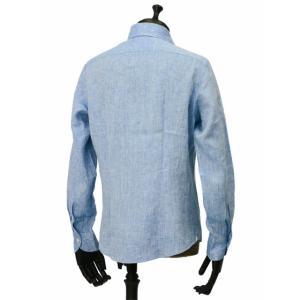 Giannetto【ジャンネット】カジュアルシャツ VINCI FIT AG85130V84 006 リネン ブルー cinqueunaltro 03