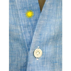 Giannetto【ジャンネット】カジュアルシャツ VINCI FIT AG85130V84 006 リネン ブルー cinqueunaltro 04