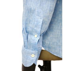 Giannetto【ジャンネット】カジュアルシャツ VINCI FIT AG85130V84 006 リネン ブルー cinqueunaltro 05
