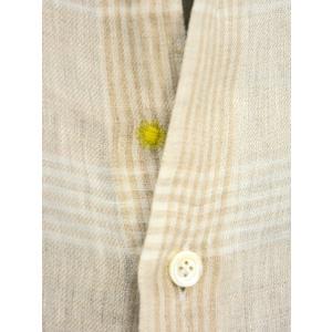 Giannetto【ジャンネット】カジュアルシャツ VINCI FIT AG88430V84 002 リネン チェック ベージュ|cinqueunaltro|04