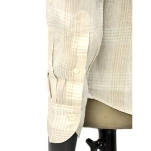 Giannetto【ジャンネット】カジュアルシャツ VINCI FIT AG88430V84 002 リネン チェック ベージュ cinqueunaltro 05