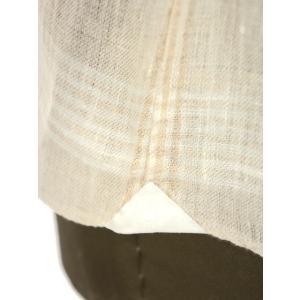 Giannetto【ジャンネット】カジュアルシャツ VINCI FIT AG88430V84 002 リネン チェック ベージュ|cinqueunaltro|06