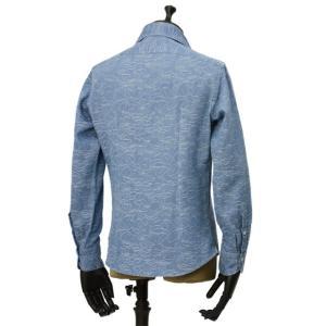 Giannetto【ジャンネット】カジュアルシャツ VINCI FIT AG39330V84 C02 ジャガード フラワー ウォッシュドブルー cinqueunaltro 03
