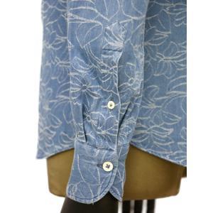Giannetto【ジャンネット】カジュアルシャツ VINCI FIT AG39330V84 C02 ジャガード フラワー ウォッシュドブルー cinqueunaltro 05