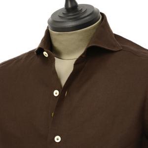 Giannetto【ジャンネット】カジュアルシャツ VINCI FIT AG83330V84 008 リネン ブラウン cinqueunaltro