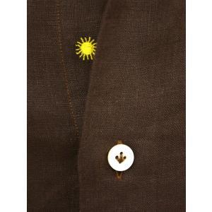 Giannetto【ジャンネット】カジュアルシャツ VINCI FIT AG83330V84 008 リネン ブラウン cinqueunaltro 04