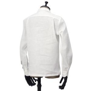 Giannetto【ジャンネット】開襟シャツ AG850BOWML 001 リネン ホワイト|cinqueunaltro|03