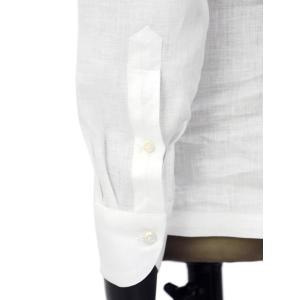 Giannetto【ジャンネット】開襟シャツ AG850BOWML 001 リネン ホワイト|cinqueunaltro|05