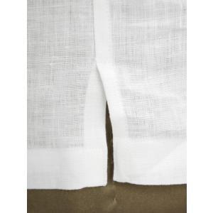 Giannetto【ジャンネット】開襟シャツ AG850BOWML 001 リネン ホワイト|cinqueunaltro|06