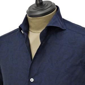 Giannetto【ジャンネット】カジュアルシャツ VINCI FIT 0103-151300V84 003 コットン ジャガード ネイビー|cinqueunaltro