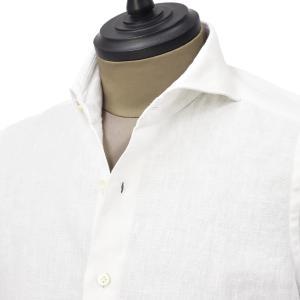 Giannetto【ジャンネット】カジュアルシャツ VINCI FIT 0103-845300V84 001 リネン ホワイト|cinqueunaltro