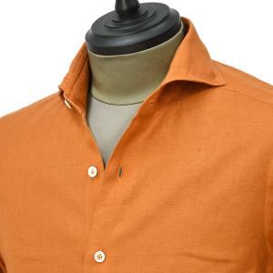 Giannetto【ジャンネット】カジュアルシャツ VINCI FIT 0103-845300V84 003 リネン オレンジ|cinqueunaltro