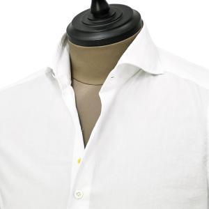Giannetto【ジャンネット】カジュアルシャツ SLIM FIT 0203-103300L84 001 ポプリン ホワイト|cinqueunaltro