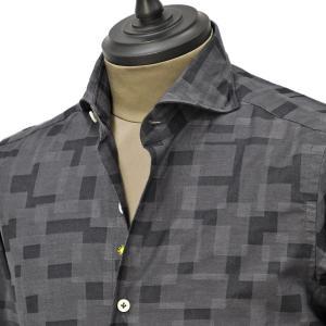 Giannetto【ジャンネット】カジュアルシャツ SLIM FIT 0203-178300L84 001 コットン デジタルカモフラージュ cinqueunaltro