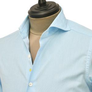 Giannetto【ジャンネット】カジュアルシャツ SLIM FIT 1103-143300L84 0005 コットン オックスフォード ブルー|cinqueunaltro