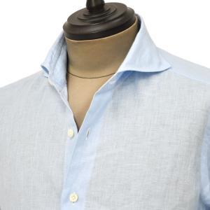 Giannetto【ジャンネット】カジュアルシャツ VINCI FIT 1103-840300V84 003 リネン ライトブルー|cinqueunaltro