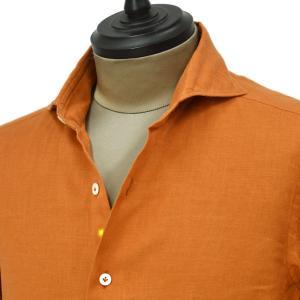 Giannetto【ジャンネット】カジュアルシャツ VINCI FIT 1103-841300V84 001 リネン オレンジ|cinqueunaltro
