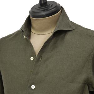 Giannetto【ジャンネット】カジュアルシャツ VINCI FIT 1103-841300V84 004 リネン カーキ|cinqueunaltro