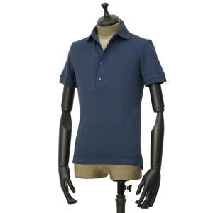 GIRELLI BRUNI【ジレッリ ブルーニ】ポロシャツ V858CO BLUENAVY 1 コットン ブルーネイビー|cinqueunaltro
