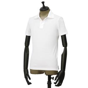GIRELLI BRUNI【ジレッリ ブルーニ】スキッパーポロシャツ V040PC WHITE 1 コットン ホワイト|cinqueunaltro