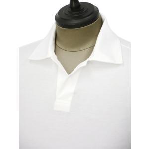 GIRELLI BRUNI【ジレッリ ブルーニ】スキッパーポロシャツ V040PC WHITE 1 コットン ホワイト|cinqueunaltro|03