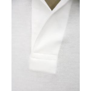 GIRELLI BRUNI【ジレッリ ブルーニ】スキッパーポロシャツ V040PC WHITE 1 コットン ホワイト|cinqueunaltro|04