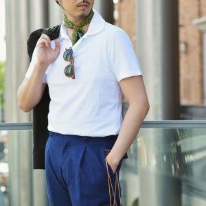 GIRELLI BRUNI【ジレッリ ブルーニ】スキッパーポロシャツ V040PC WHITE 1 コットン ホワイト|cinqueunaltro|06